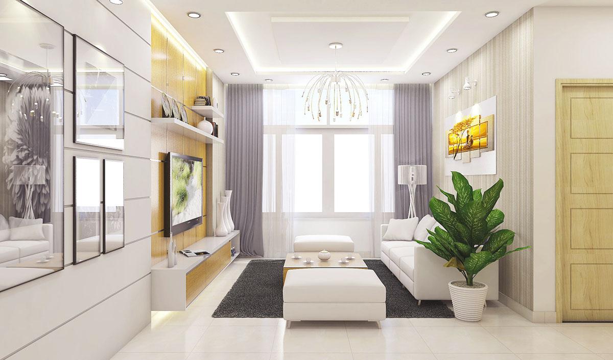 thiết kế dự an tara residence tông sáng