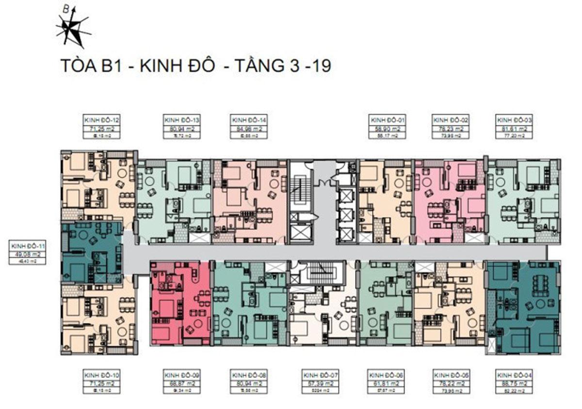 mặt bằng thiết kế dự án căn hộ song ngọc - tara residence