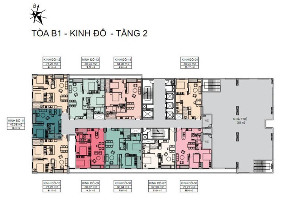 mặt bằng thiết kế dự án căn hộ tara residence
