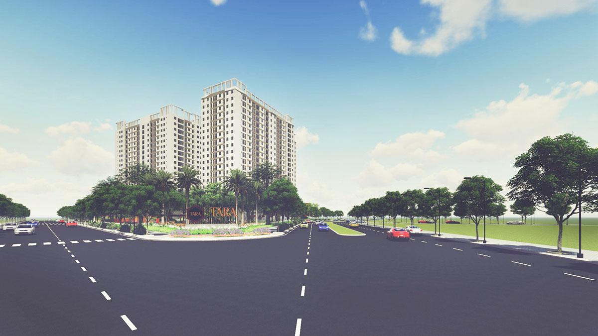 dự án Tara Residence Quận 8 phối cảnh đường Tạ Quang Bửu
