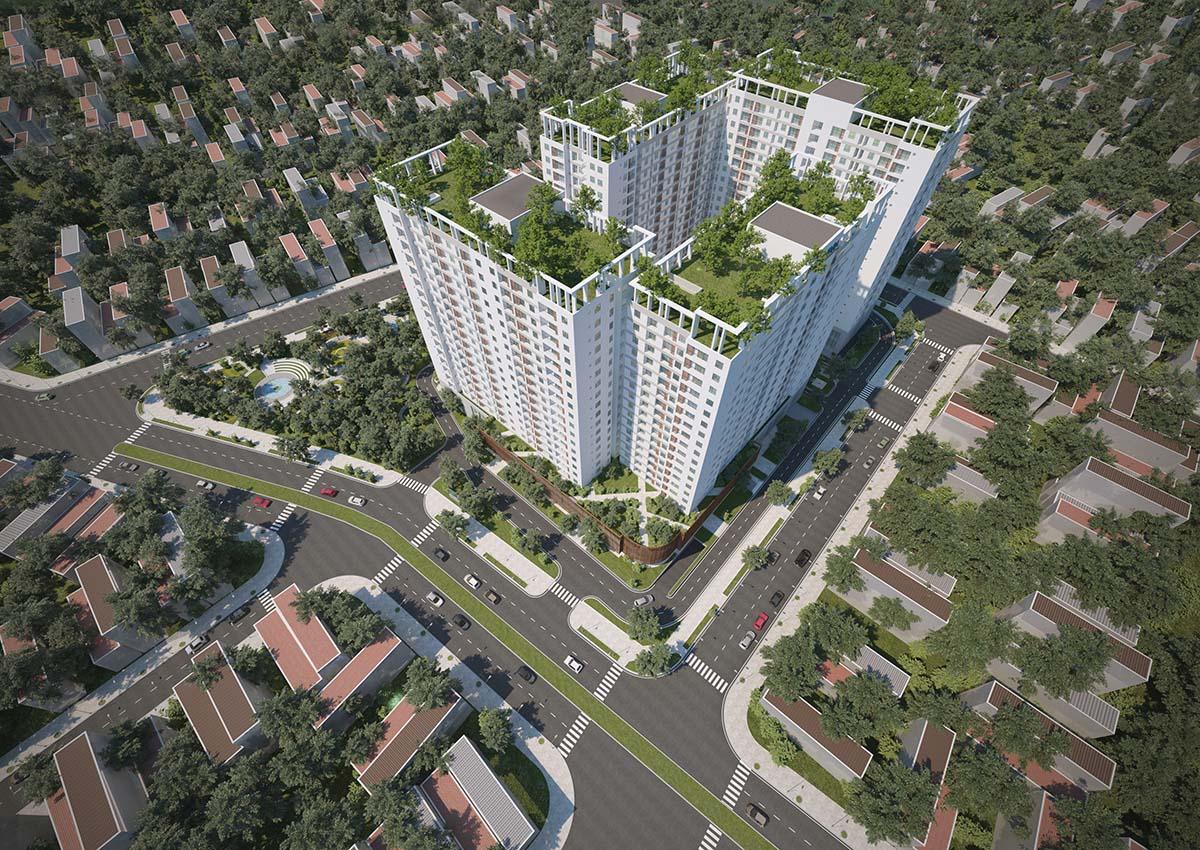 view phoi canh can ho dự án tara ressidence 3