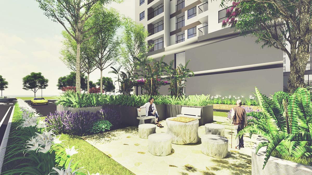 vườn tại dự án tara residence