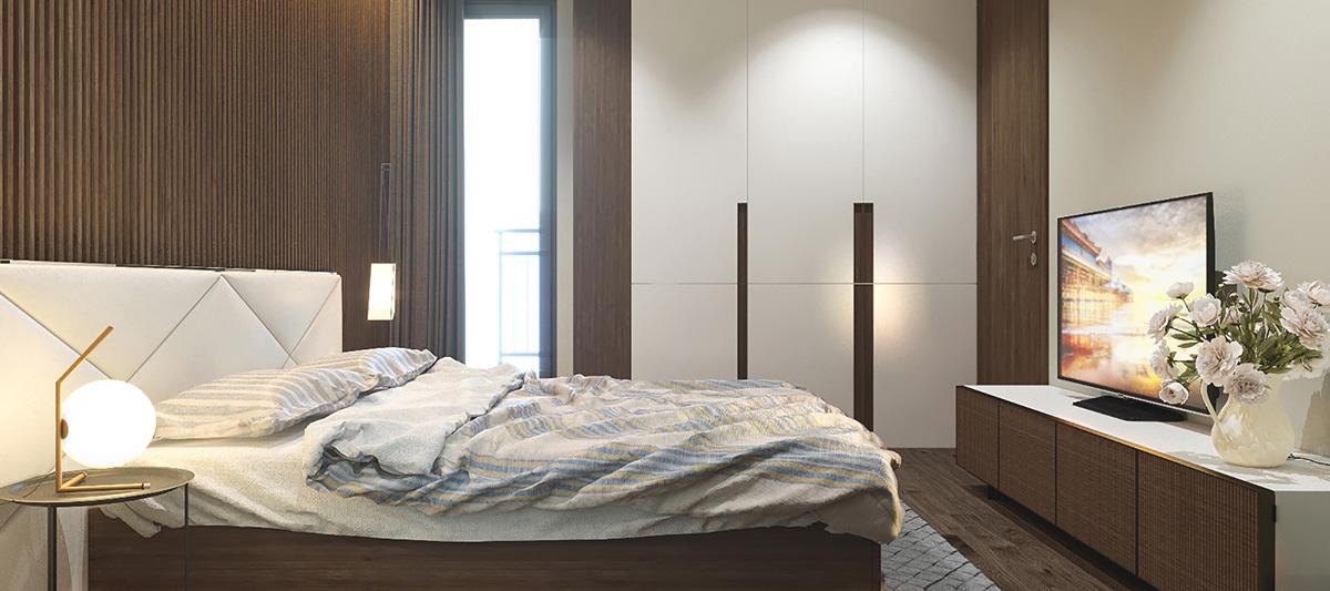 Phòng ngủ Master tại căn hộ Song Ngọc