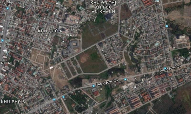 Vị trí của khu chung cư Raemian Galaxy City Quận 2 chụp từ google map