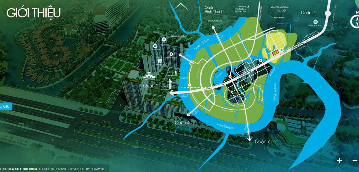 vị trí new city